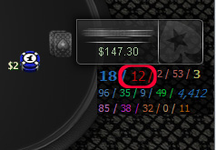 Poker HUD stat - PFR