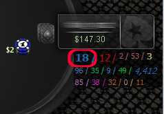 Poker HUD stat - VPIP
